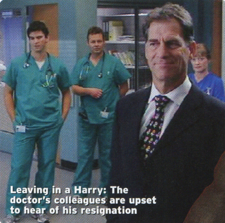 Simon MacCorkindale as Harry Harper in Casualty