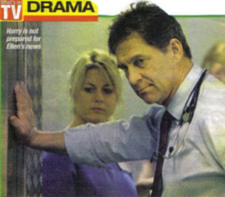 Simon MacCorkindale as Harry Harper in Casualty